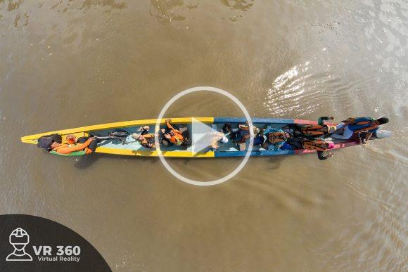 Canoa en el Río Guayabero