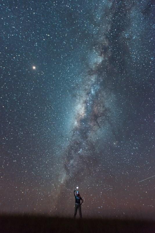 Marcela y su primera Vía Láctea