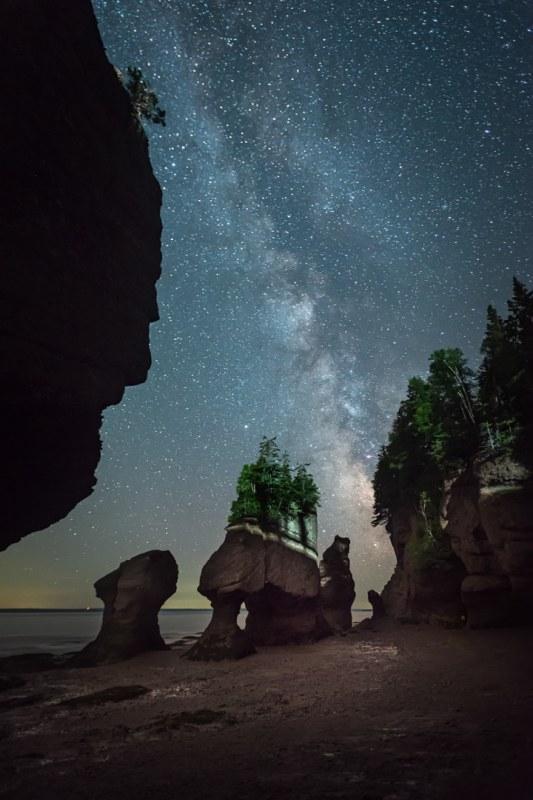 Vía Láctea en el Parque Nacional de Fundy