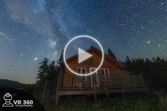 Vía Láctea en lago de Tadoussac