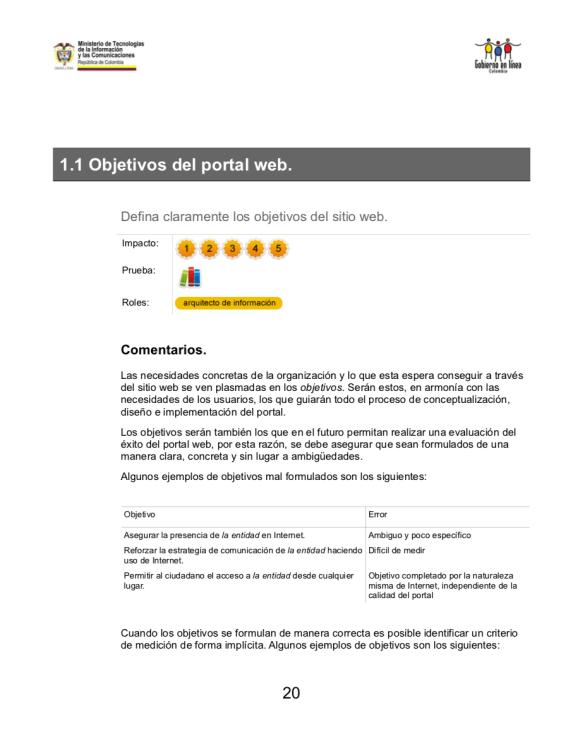 Directrices de Usabilidad Páginas Web PDF (Pág 20)