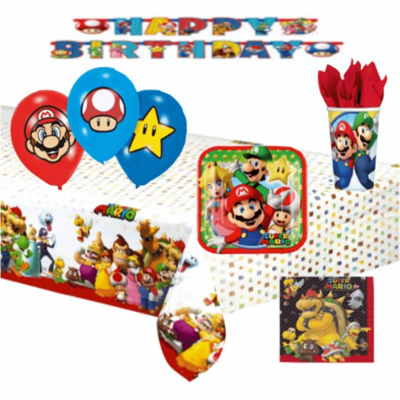 kit decoration anniversaire theme mario bros