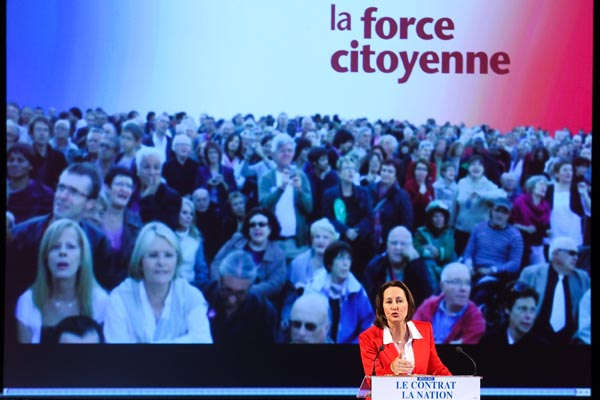 Meeting de SéŽgolène Royal pour les primaires du PS