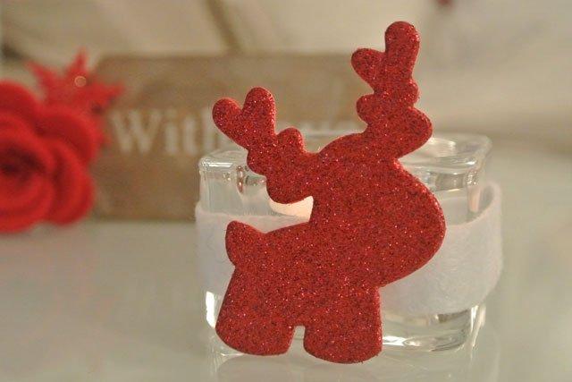 Natale portalumino renna rosso
