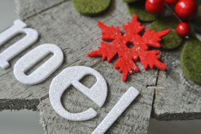 Natale decorazione stella legno Noel