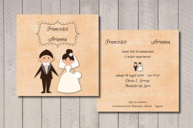 Partecipazione matrimonio sposi