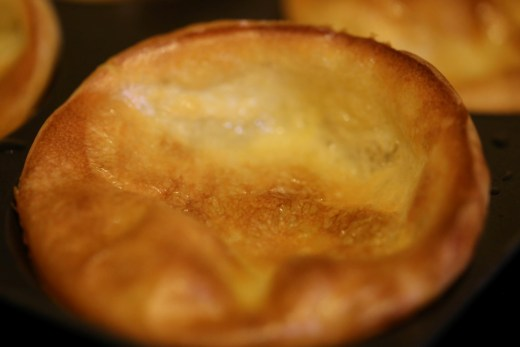 zoom on an home made yorkshire pudding