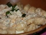 photo des gnocchi de céleri faits maison crème au bleu et noisettes