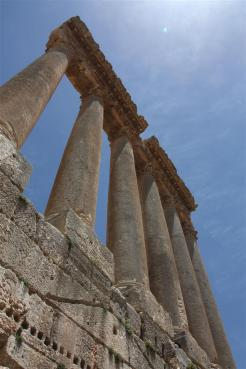 photo of the baalbek temple ruins