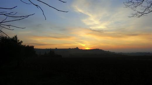 Sunrise at Château de la Gardine