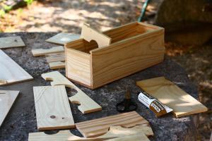Photo de morceaux de caisses en bois