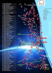 Carte du Parcours 2013 marathon du Médoc