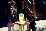 boy selling home-made lemonade