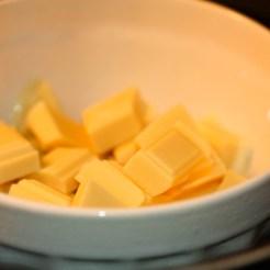 fonte du chocolat blanc au bain-marie