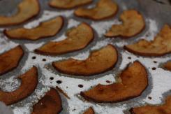 photo de la préparation des chips de pomme