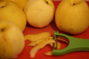 peler les pommes