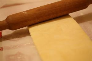 premier tour de la pâte feuilletée inversée