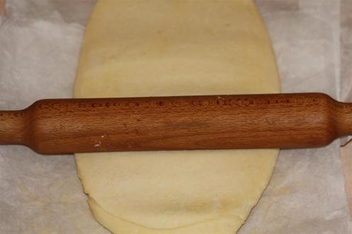 étalage de la pâte feuilletée