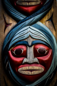 photo of a Totem Pole in Vancouver
