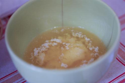 beurre fondu au micro-onde