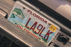 Florida number plate