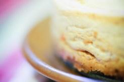 bord d'un cheesecake