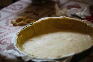 fond de tarte avant cuisson à blanc