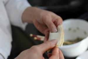 wontons folding technique