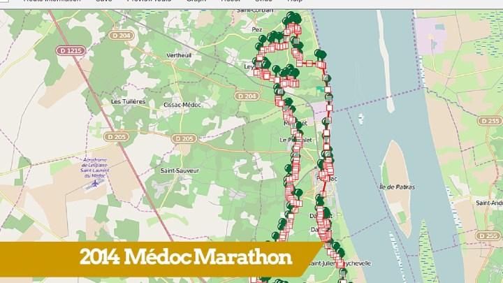 Parcours du 30ème marathon du Médoc 2014
