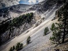 Stony hillside of the Mount Ventoux
