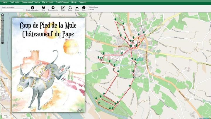 Coup de pied de la mule in Châteauneuf du Pape route (GPS track)