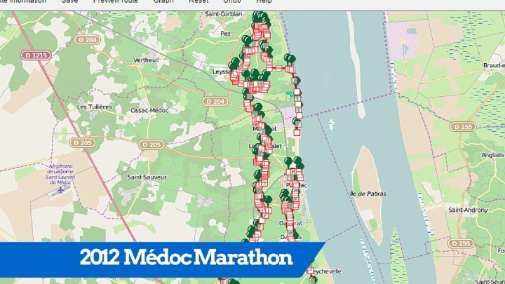 2012 Médoc Marathon route map (GPS track)