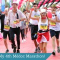 Marion Barral at the finish line of the Médoc Marathon