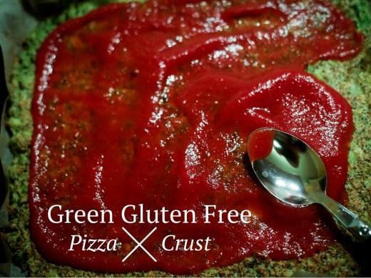 green gluten-free pizza crust