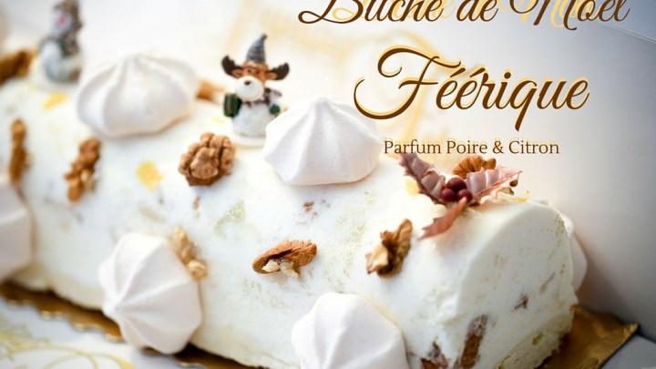 (Français) Bûche de Noël féerique parfum poire et citron