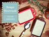 Soupe hivernale au celeri rave, à l'ail rôti et aux amandes