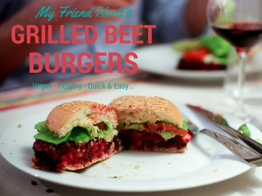vegan grilled beet burgers with feta