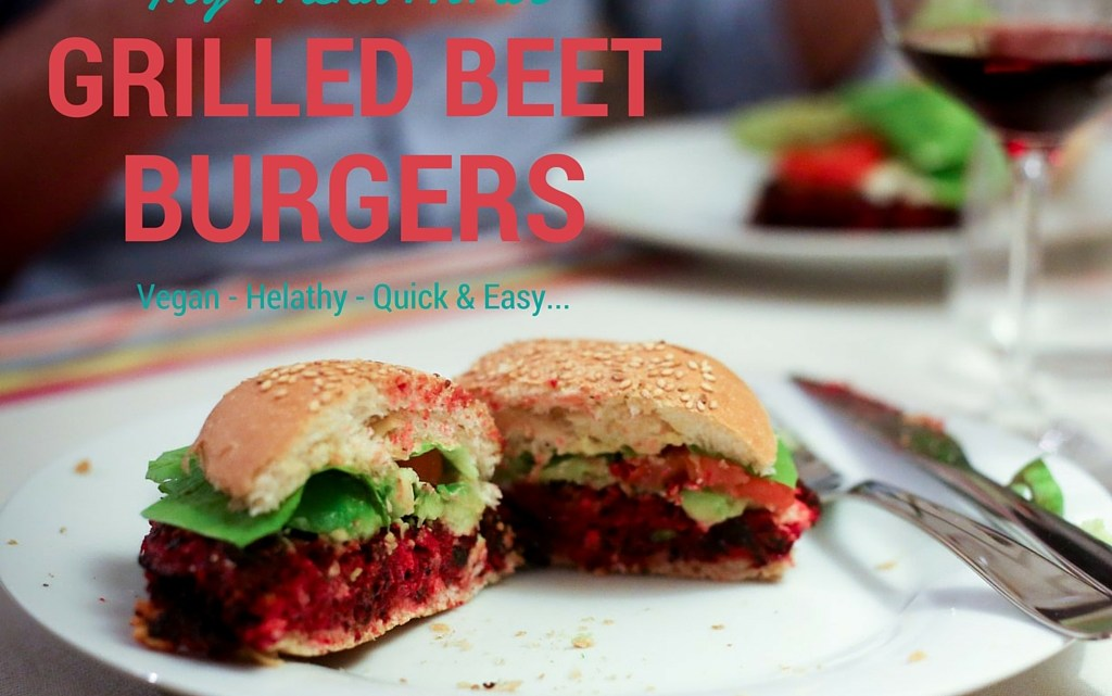 My friend Horti's Grilled Beet Burgers (Vegan)