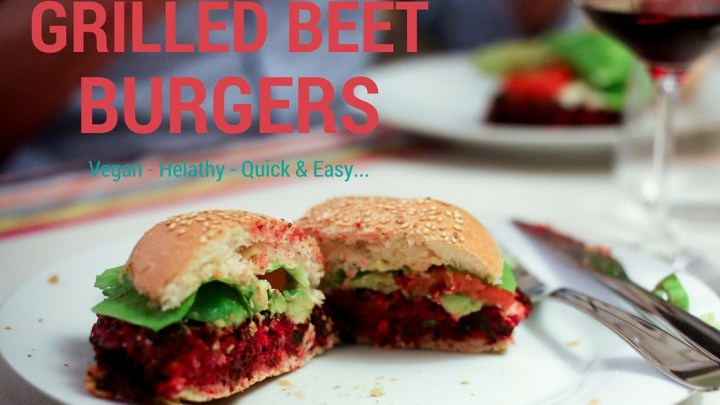 (English) My friend Horti's Grilled Beet Burgers (Vegan)