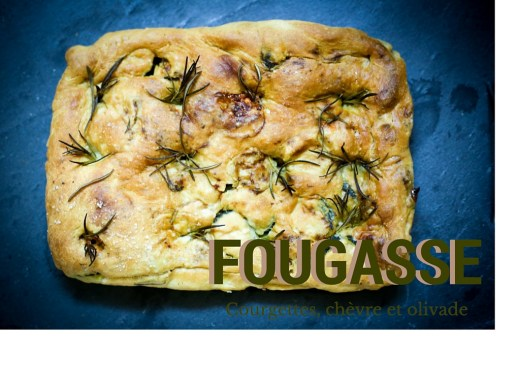 fougasse courgettes fromage chevre romarin zucchini goat s cheese rosemary flat bread