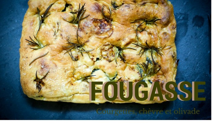 "Provençal picnic: Zucchini, Goat's Cheese & Black Olive flat bread (""fougasse"")"