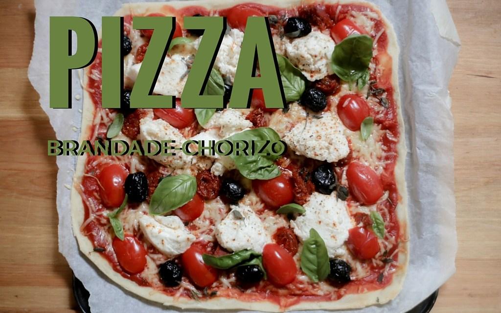 Pizza brandade de morue & chorizo