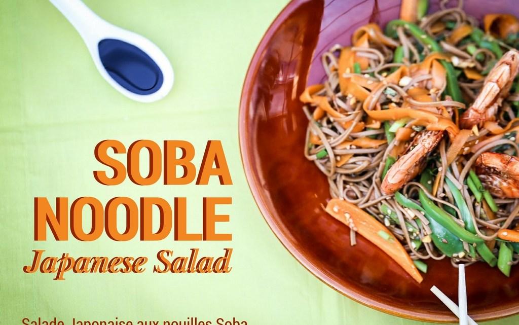 Soba noodle Japanese salad