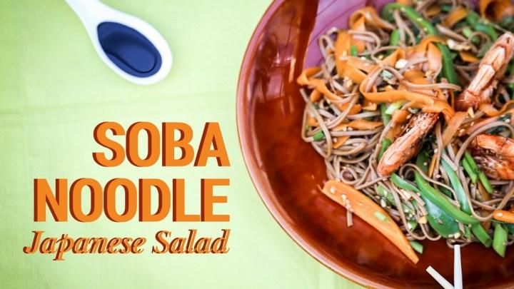 Salade japonaise aux nouilles soba