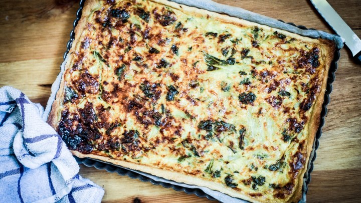 Swiss Chard & Curry Tart