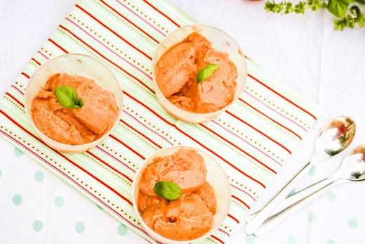 sorbet tomate chèvre basilic au thermomix