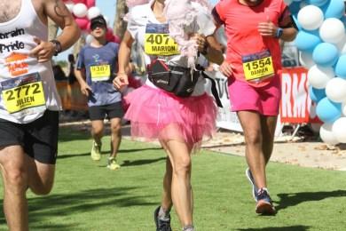 Marion Barral à l'arrivée du marathon du médoc 2018