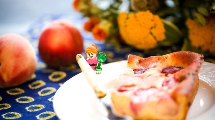 Summer cake peach & verbena syrup