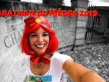 Marion Barral devant le Château Latour au Marathon du Médoc 2019