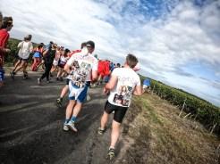 Coureurs au marathon du médoc
